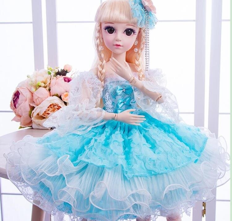 芭比娃娃 60cm大號超大籬芭比比洋娃娃套裝女孩公主兒童玩具單個仿真布TW