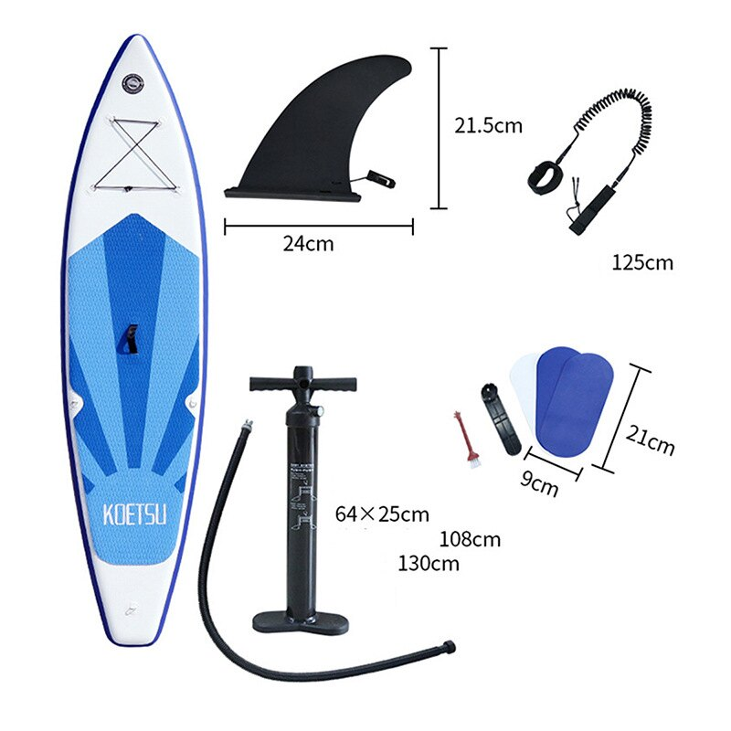 充氣劃水板滑水板充氣沖浪板站立式劃水板水上SUP槳板瑜伽滑水板