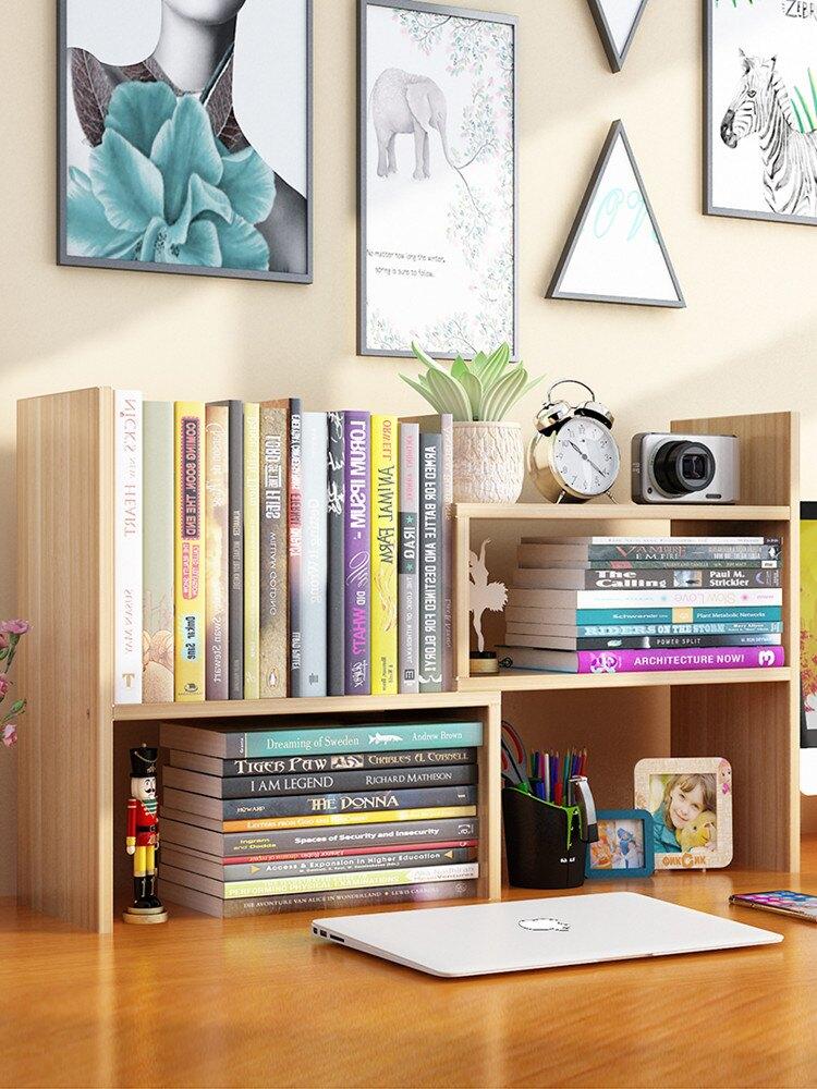 辦公桌置物架 書桌上學生書架簡易桌面兒童置物架家用辦公簡約小型書櫃宿舍收納『XY16756』