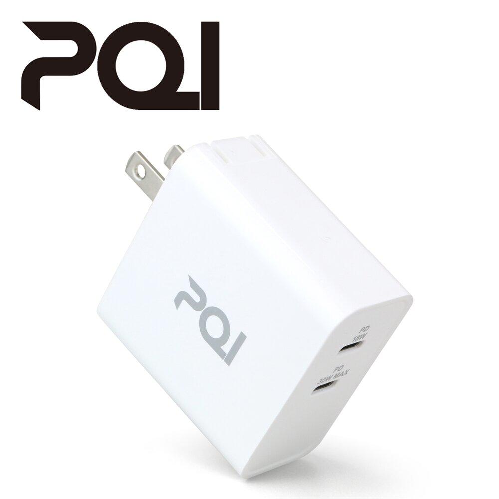 ★快速到貨★PQI PDC36W 雙孔PD快充 充電器