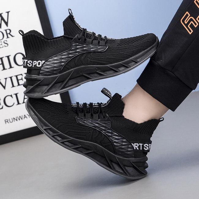 FOFU-(任二雙888)韓版舒適透氣飛織軟底休閒跑步運動鞋男【09S2692】