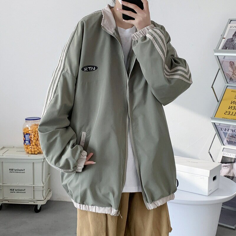 棒球服男潮牌ins港風韓版潮流學生男生2021新款春秋寬鬆夾克外套