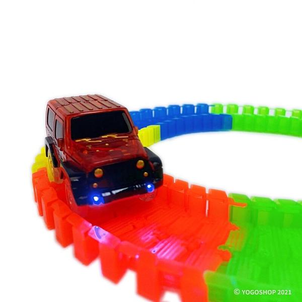 夜光 積木軌道車 7210 (附電池) 56pcs/一個入(促150) 百變軌道車 拼裝軌道玩具 發光軌道車-CF135393