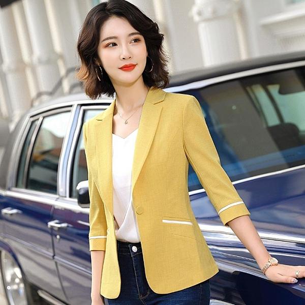 俐落線條五分袖多色春夏搭配外套[20X053-PF]美之札