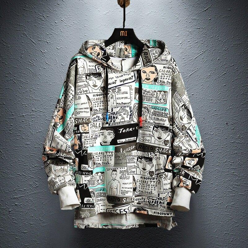 2021新款衛衣男士春款韓版嘻哈運動上衣服青少年學生中大尺碼連帽外套