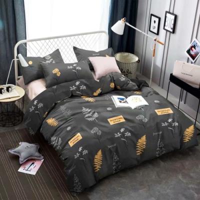 A-ONE 雪紡棉 雙人床包/枕套三件組-森林學