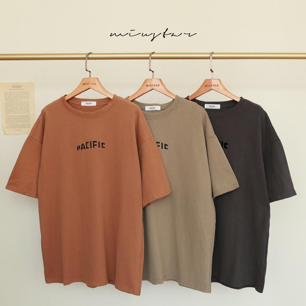 MIUSTAR PACIFIC設計師字體磨毛棉質上衣(共3色)短袖t恤 0309 預購【NJ0244】