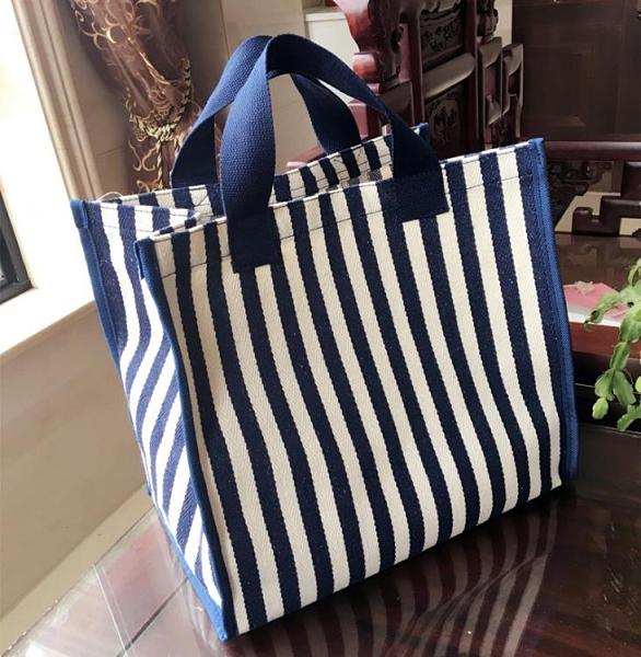 帆布袋大容量環保購物袋學生拎書包防水超市買菜包便攜手提袋女包 【夏日新品】