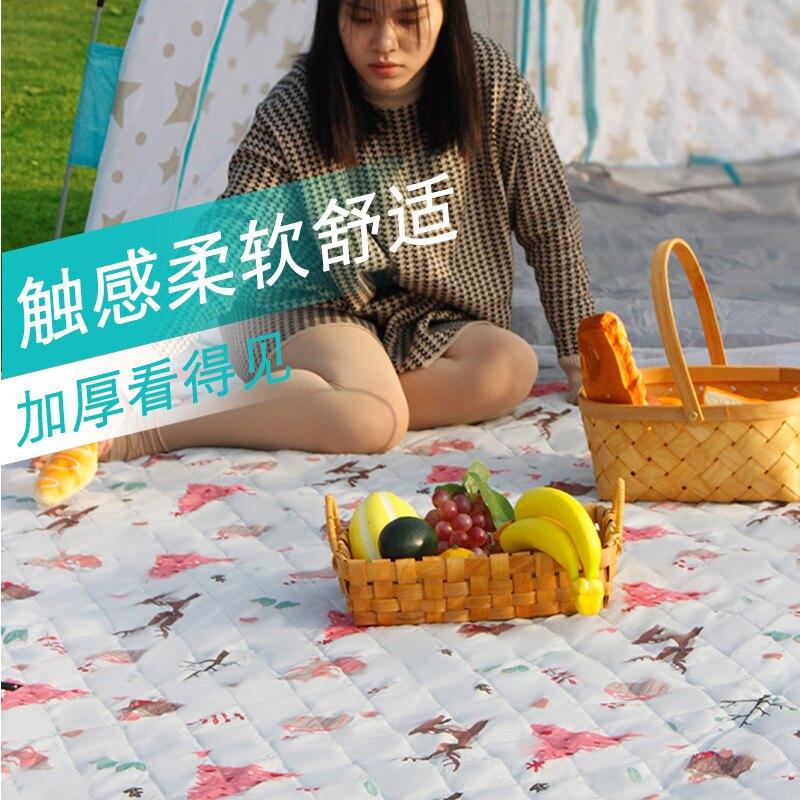 戶外春郊游野餐墊草坪露營野炊地墊加厚便攜野餐布防水帳篷防潮墊