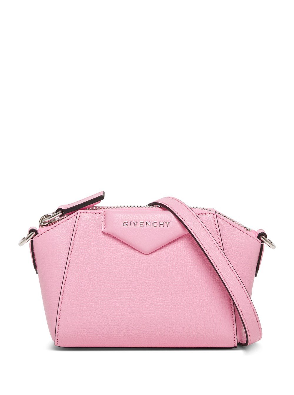 Antigona Nano Crossbody Bag in Pink Leather
