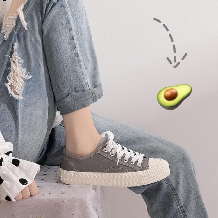 免運 優惠精選--帆布鞋女新款小白布鞋ulzzang百搭學生餅干潮鞋ins街拍板鞋 夏季新品