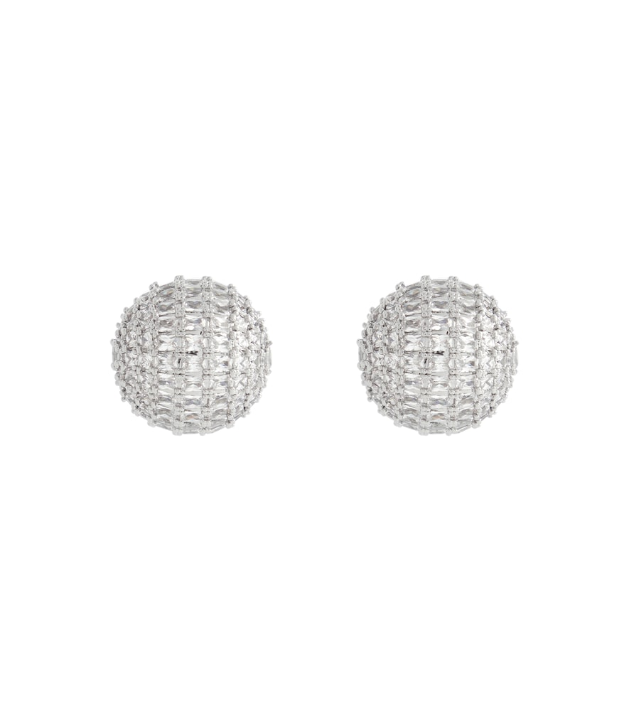 Crystal dome earrings