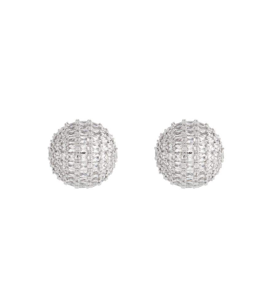 Crystal dome earrings