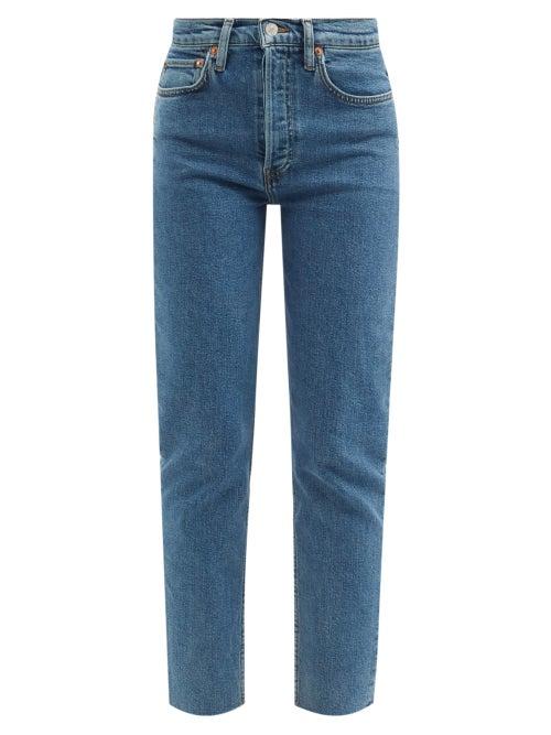 Re/Done - 90s High-rise Slim-leg Cropped Jeans - Womens - Denim