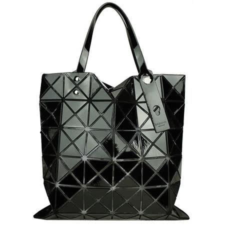 ISSEY MIYAKE  三宅一生BAOBAO幾何透光方格6x6手提包(黑)