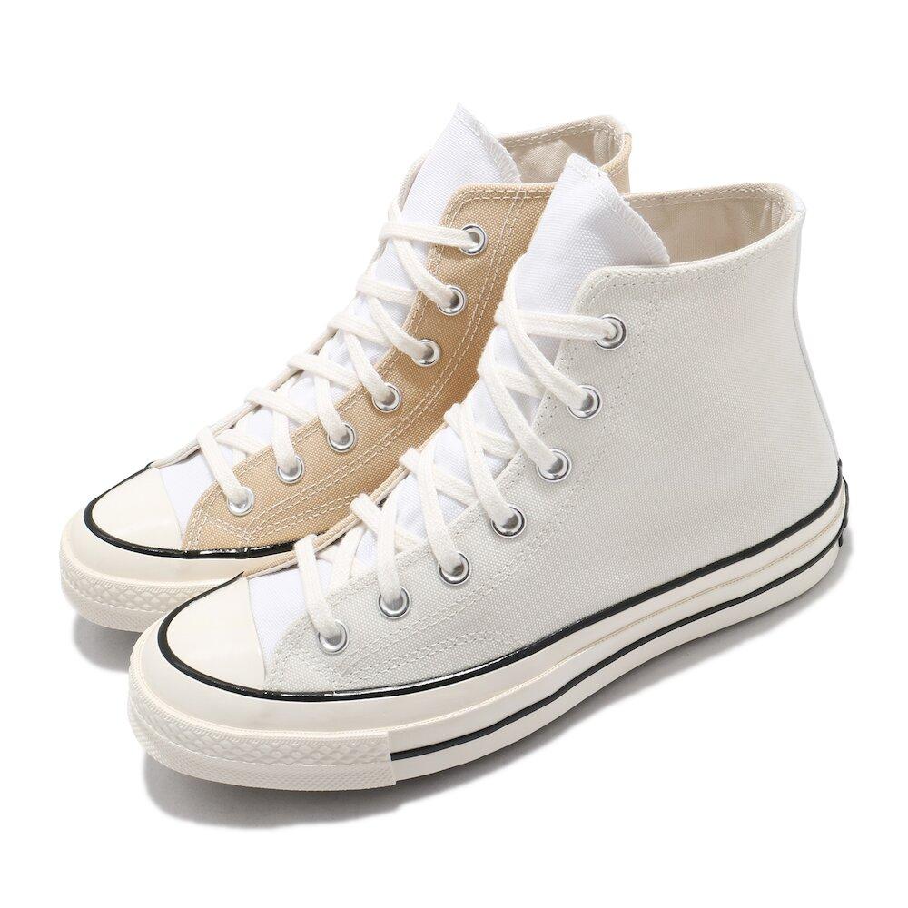 CONVERSE 休閒鞋 All Star 高筒 穿搭 男女鞋 基本款 帆布 簡約 三星黑標 拼接 卡其 米白 [170958C]