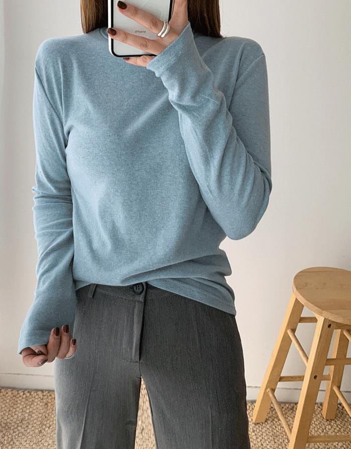 韓國空運 - Angora Basic Polar 長袖上衣