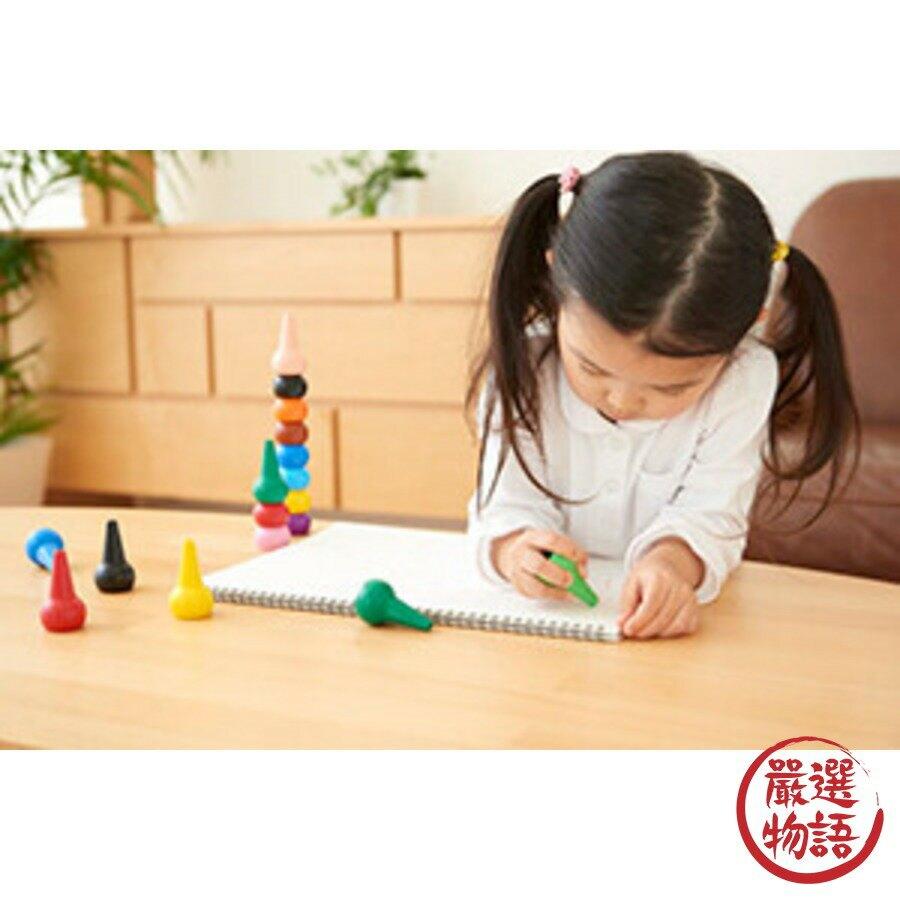 【日本製】【AOZORA】現貨日本製Baby Color 幼童用 積木造型色筆(1組) - AOZORA
