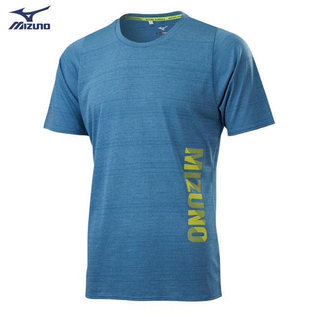 【美津濃MIZUNO】男款路跑短袖T恤 J2TA100417(煙灰藍)