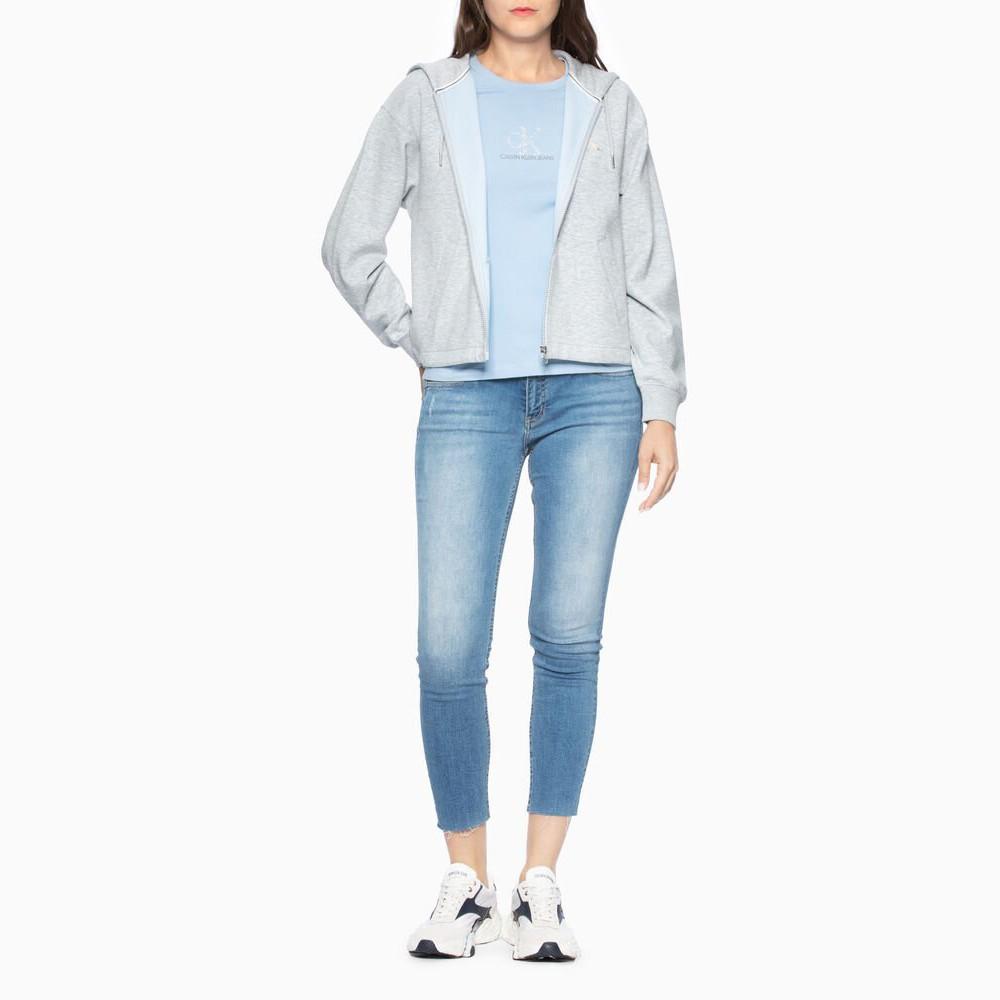 Calvin Klein CK女士 Monogram Zip Up 連帽外套 Grey Bl