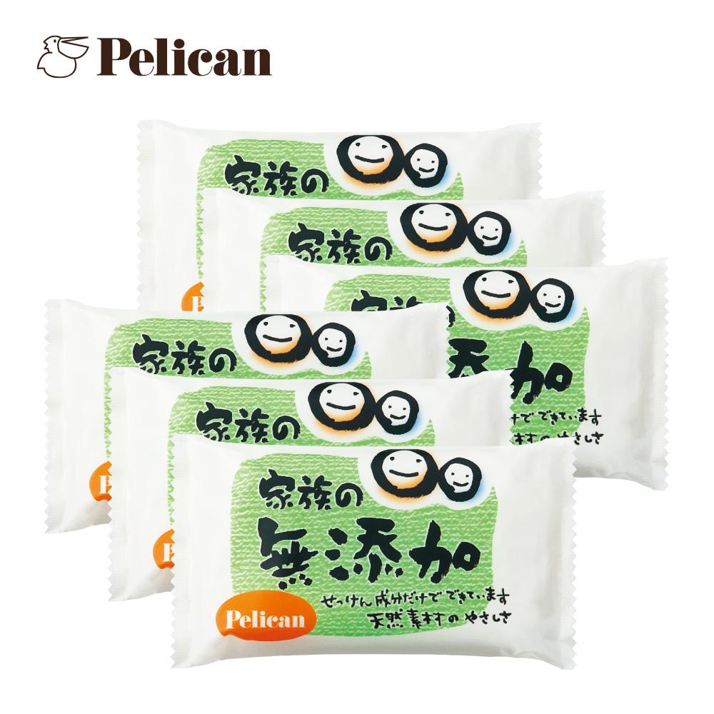 日本Pelican 敏感肌及孩童無添加皂100X6入