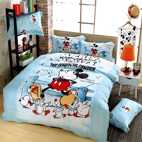 【迪士尼天絲特價】天絲床包組6尺(米奇款)最後一個