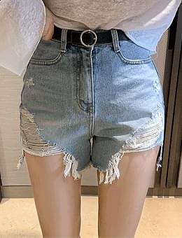 韓國空運 - Hot Place Hedging Damage Hem Cutting Shorts Shorts 短褲