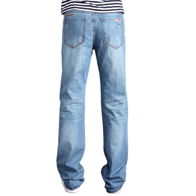 男士牛仔褲 寬鬆牛仔褲 男士韓版休閒裝大喇叭褲 男式大腳褲