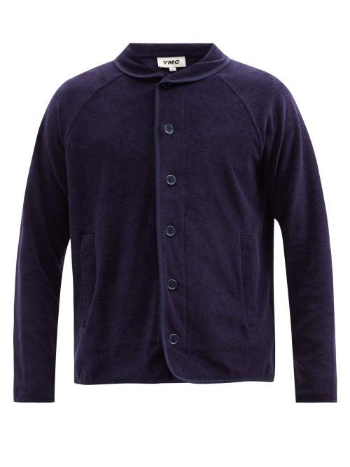 YMC - Beach Cotton-terry Jacket - Mens - Navy