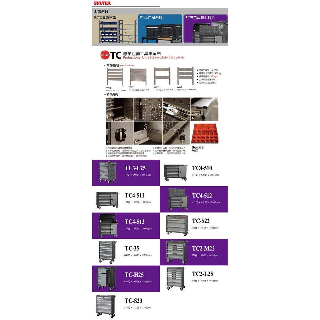 《勁媽媽商城》樹德TC-H25 TC專業活動工具車系列五金/工具/螺絲/扳手/工業/工廠/汽機車
