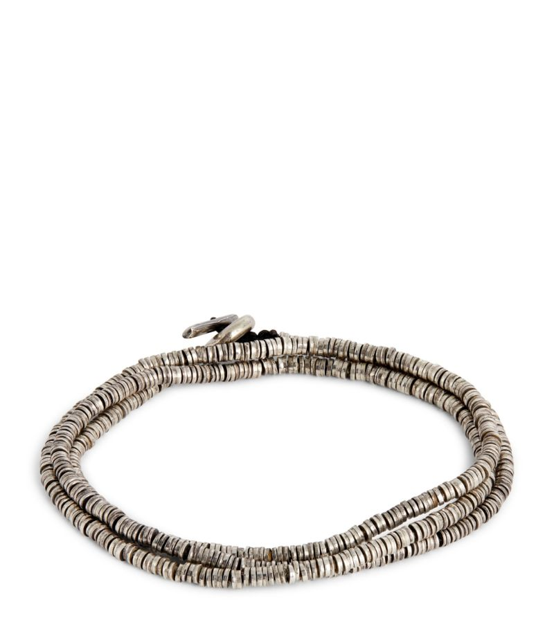 M.Cohen Stacked Disc Triple-Wrapped Bracelet