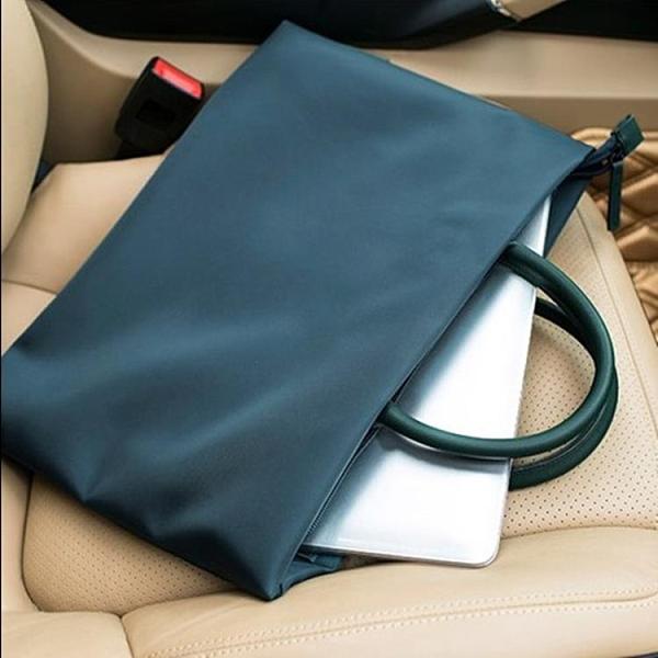 手提文件袋A4拉鏈袋防水公文包男女士商務辦公會議袋資料袋電腦包魔方