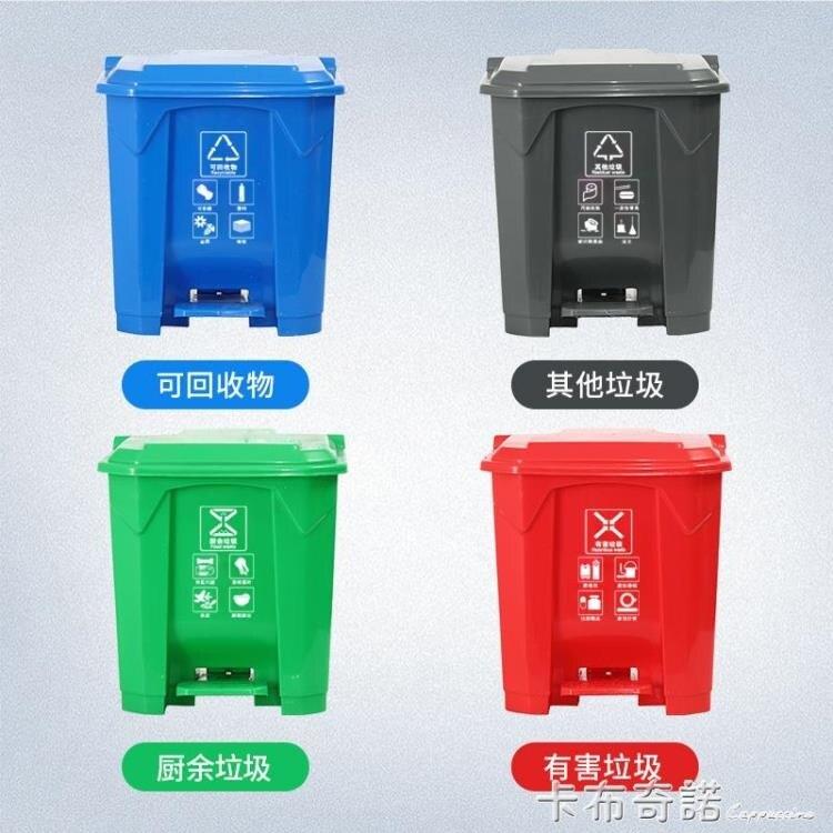 脚踏式大垃圾桶带内桶脚踩户外家用厨房大号商用室外垃圾箱大容量 現貨快速出貨-85折-華爾街