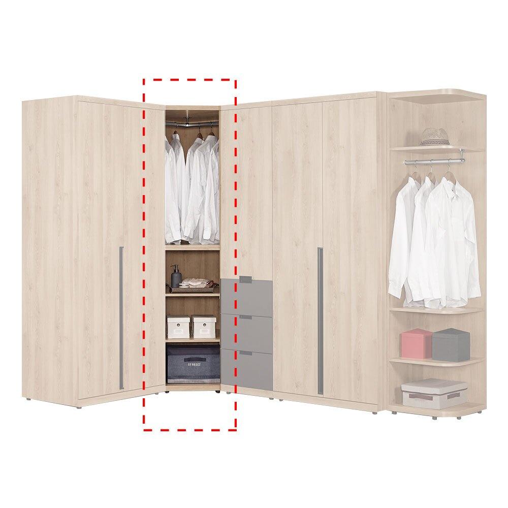 斯麥格2.75尺轉角衣櫃/衣櫥/H&D東稻家居-消費滿3千送點數10%