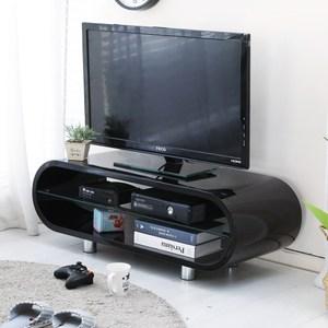 【澄境】橢圓造型鋼琴烤漆電視櫃黑色
