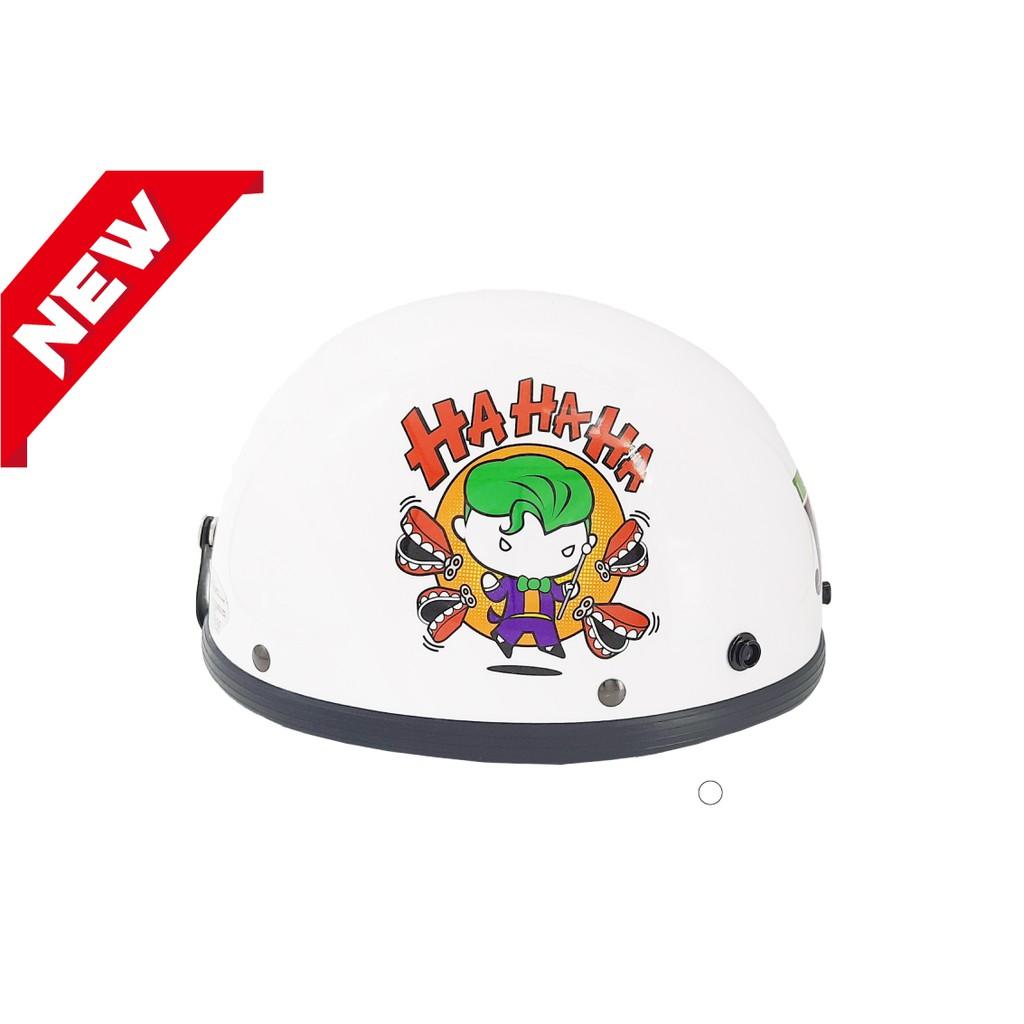 智同 小丑 碗公帽 1/2 半頂式安全帽 瓜皮帽 正義聯盟 DC Q版 Joker