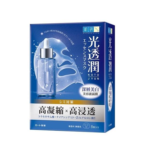 【Hada-Labo肌研】光透潤 瞬效補水面膜/深層美白面膜 8片一盒 效期 2023.04【淨妍美肌】