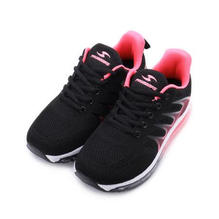 PROMARKS 飛織全氣墊跑鞋 黑 女鞋