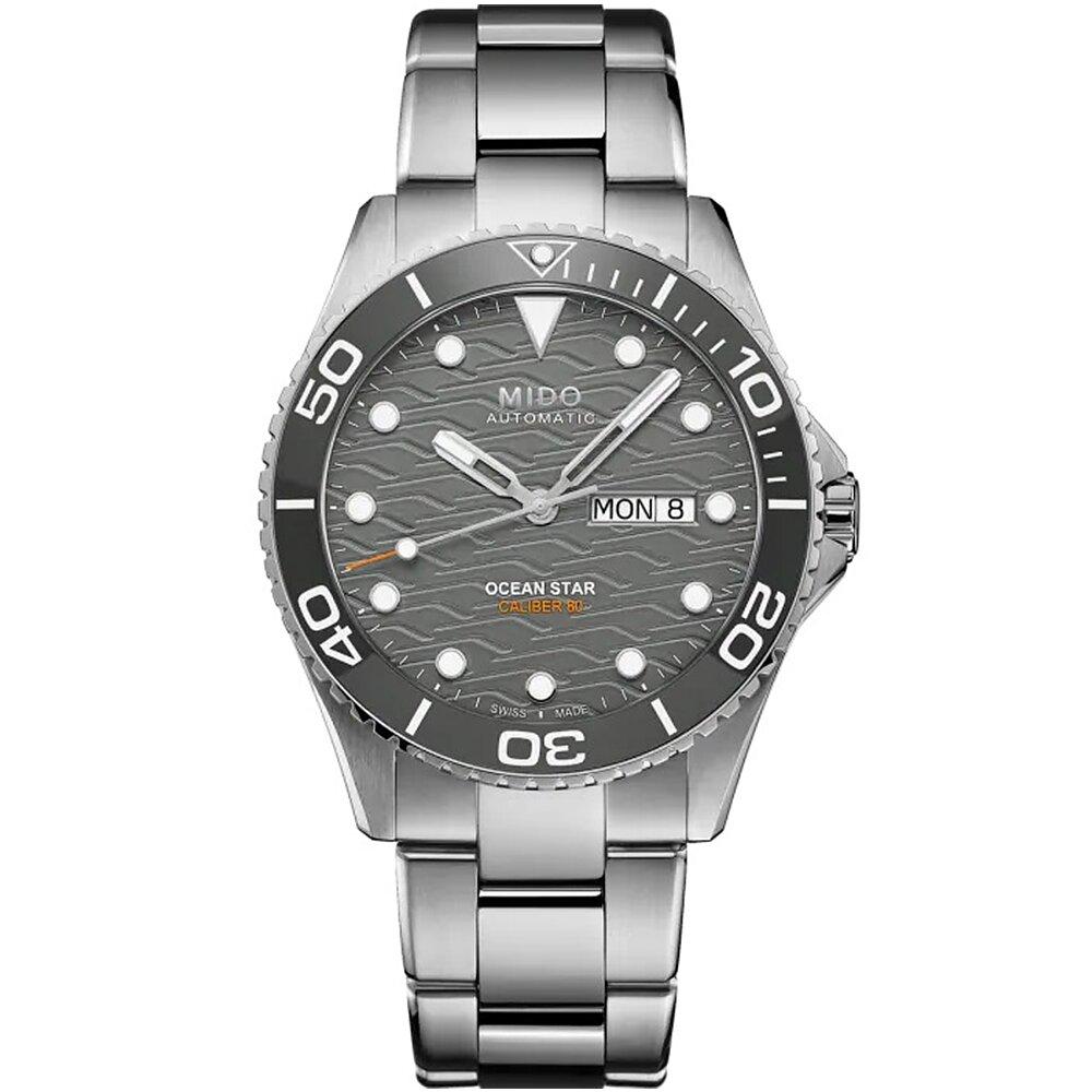 MIDO 美度 Ocean Star 200C 海洋之星陶瓷200米潛水錶/灰/42.5mm/M0424301108100