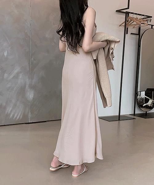 韓國空運 - Goddess of Luck Sleeveless Bustier Long Dress 長洋裝