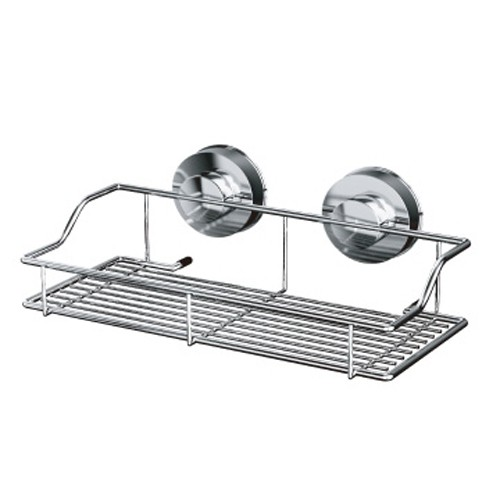 DeHUB 長方形置物架25cm / 韓國強力吸盤 / 重覆使用 /浴室置物架 不銹鋼架 HOME WORKING總代理
