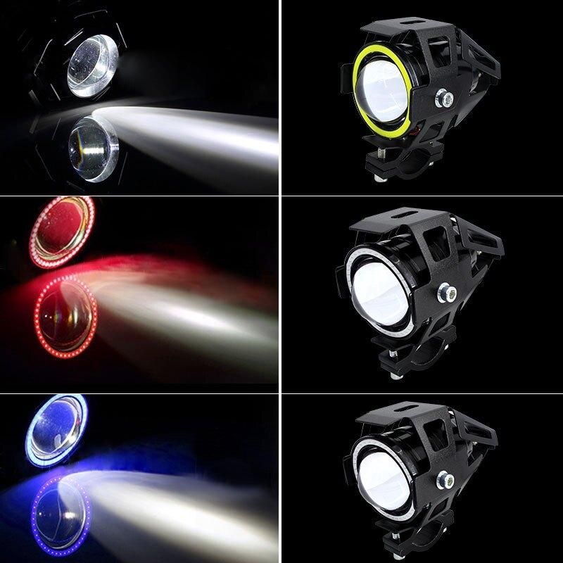 【臺灣專供】天使眼U7摩托車LED燈超亮防水變形金剛激光炮摩托車燈