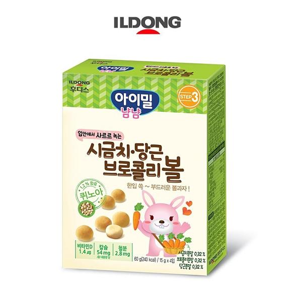 韓國 ILDONG 日東 藜麥小饅頭60g-綜合蔬菜口味[衛立兒生活館]