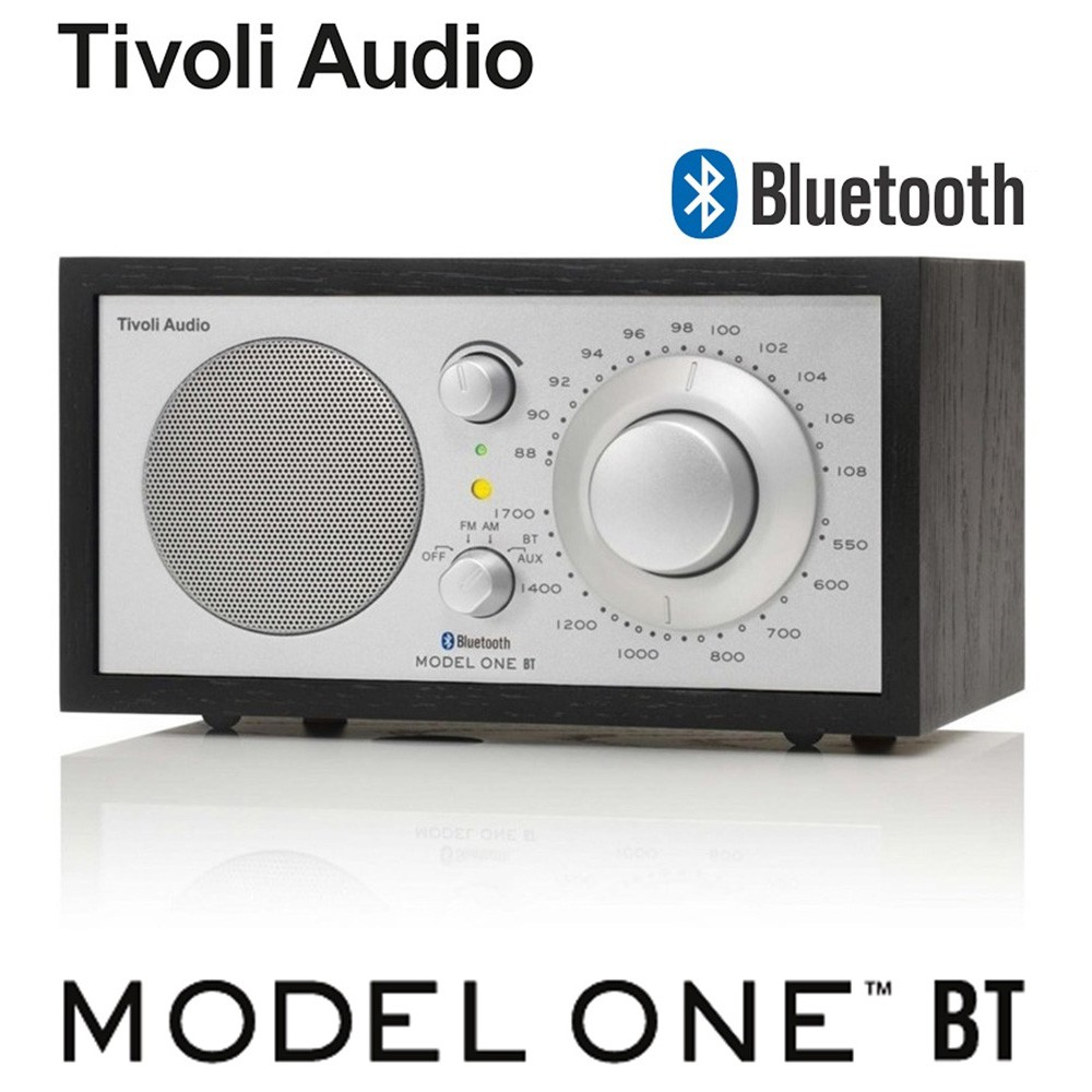 【Tivoli Audio】 Model One BT AM/FM 藍芽桌上型收音機(黑木紋) 送聲寶雙USB充電器