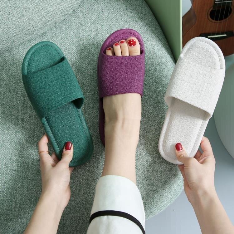免運 精品-2020新款拖鞋家用女夏天室內防滑防臭情侶塑膠家居