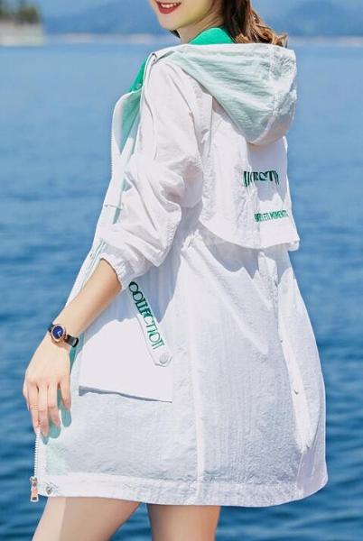 【快出】防曬衣女中長款2021年夏季新款韓版洋氣薄款百搭長袖防曬服衫外套