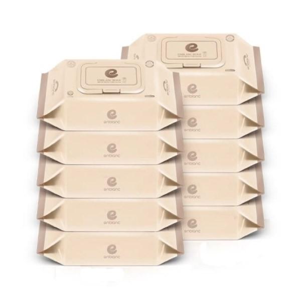 韓國 Enblanc 銀離子輕柔純水有蓋大包濕紙巾-松針萃取物72抽10入|箱購【麗兒采家】