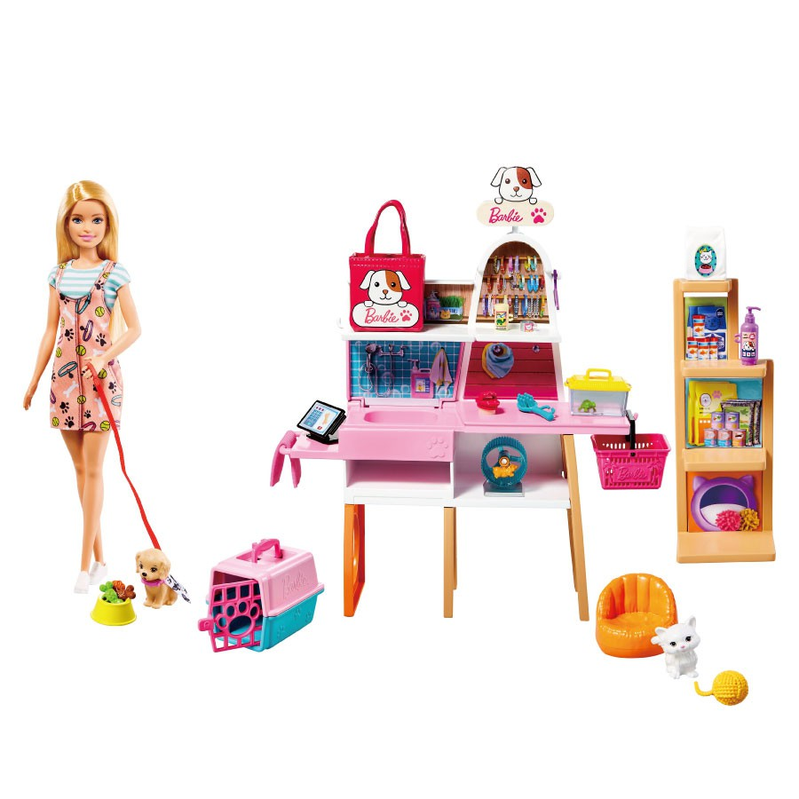 芭比時尚寵物店組合 玩具反斗城