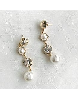 韓國空運 - Galactic Pearl Drop Earrings Earrings 耳環