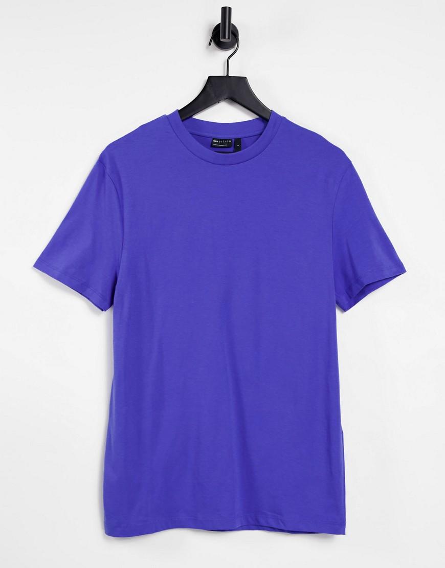 ASOS DESIGN organic t-shirt with crew neck in blue